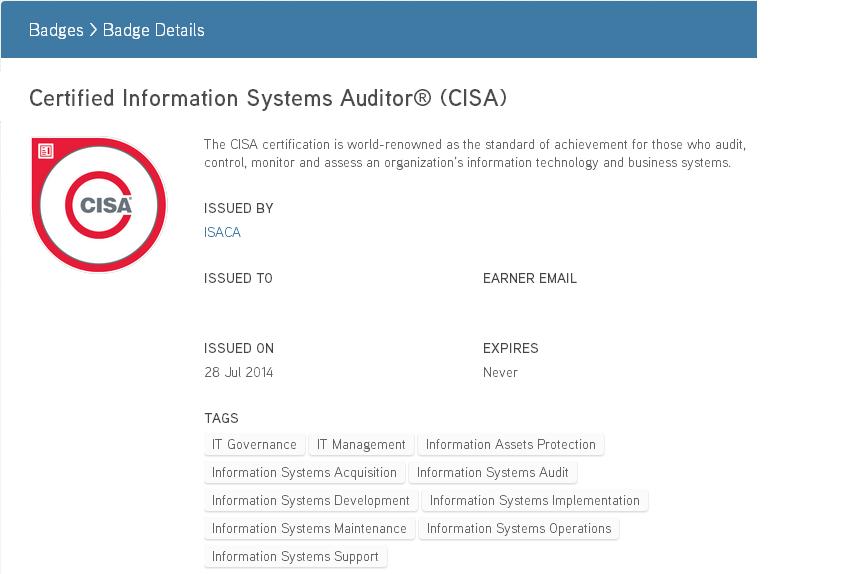 Получение CISA. История одного сертификата и помощь интересующимся
