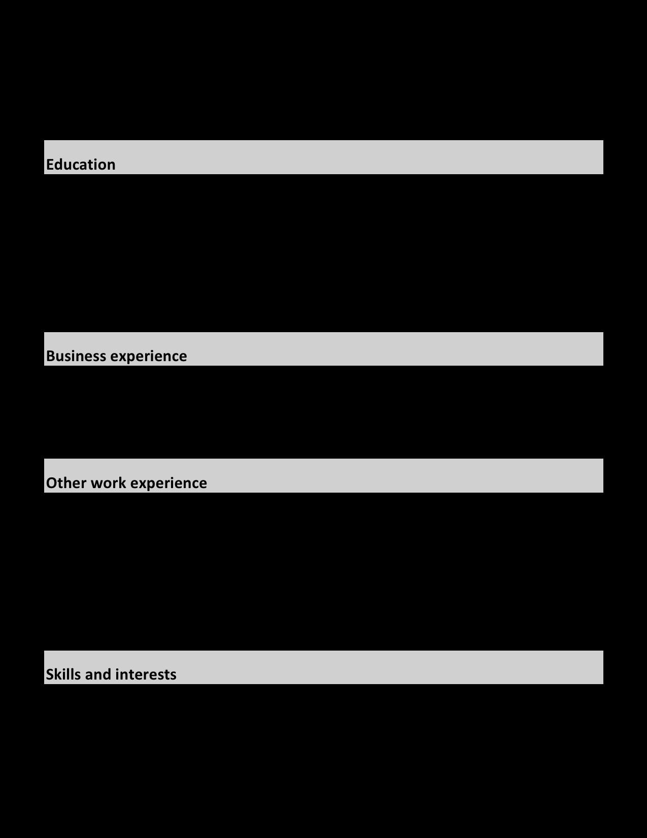 Правила типографики — как составить красивое резюме - 2