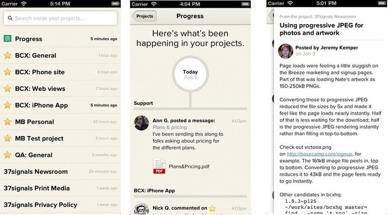 37 signals выпустили официальное iOS приложение для Basecamp. Спустя 8 лет после запуска