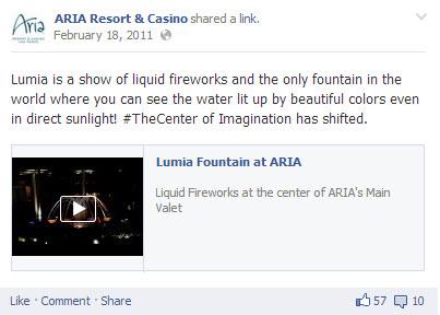 SMM: Как отель казино «Ариа» увеличил количество репостов на 310%, рассказывая истории