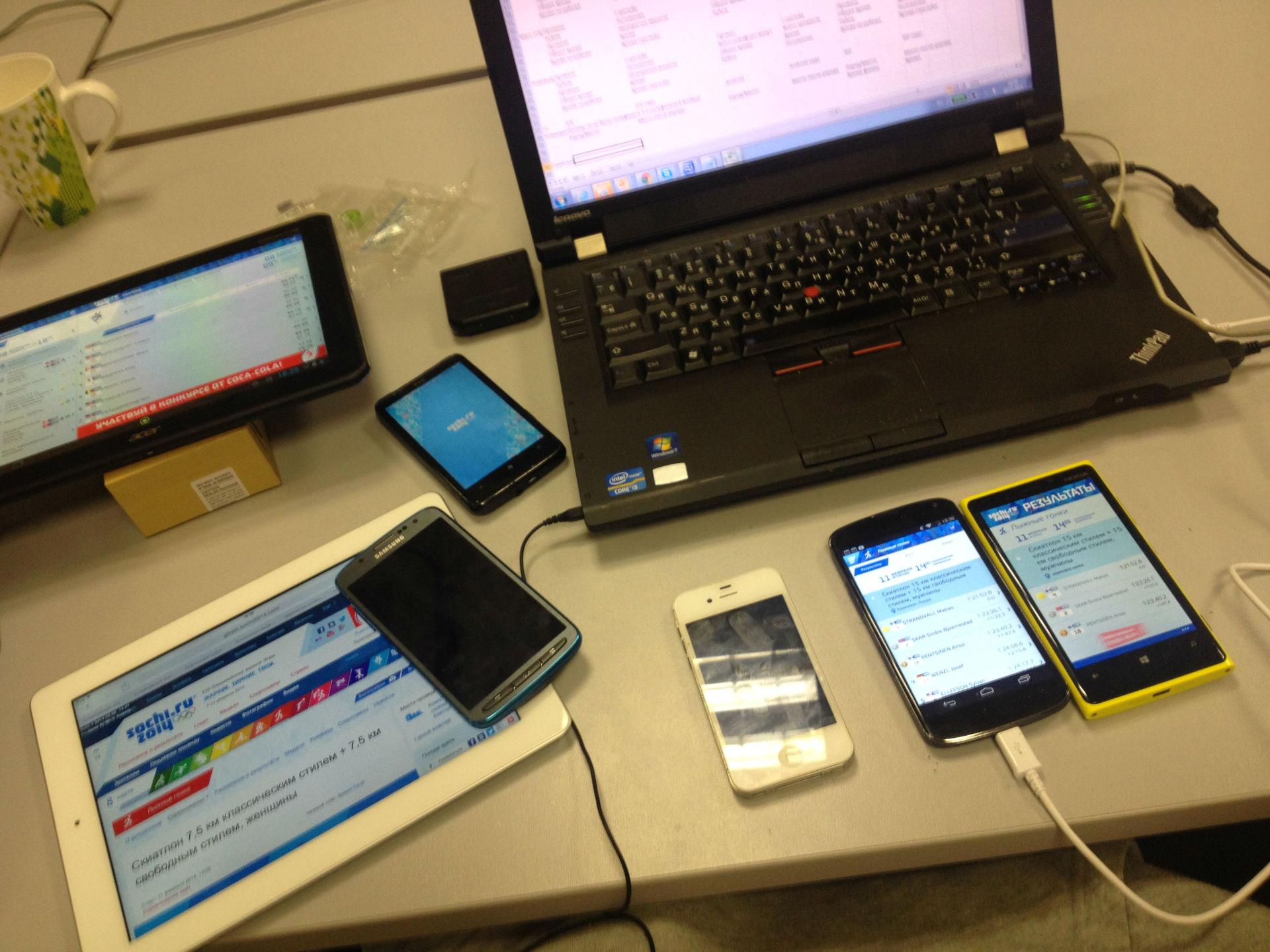 Мобильные приложения «Сочи 2014»: как показать мегабайты результатов пользователям